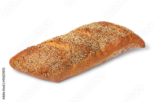 Whole traditional Belgian sourdough loaf of bread in a special shape with seeds Fototapet
