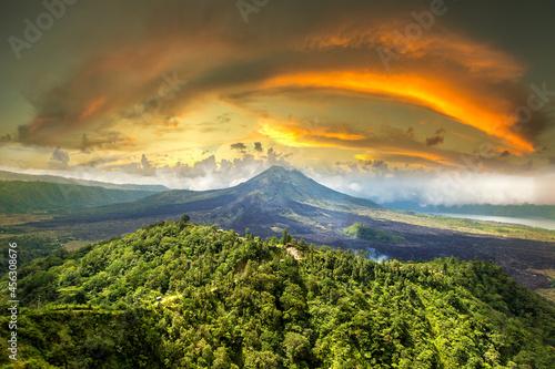Canvastavla Volcano Batur on Bali