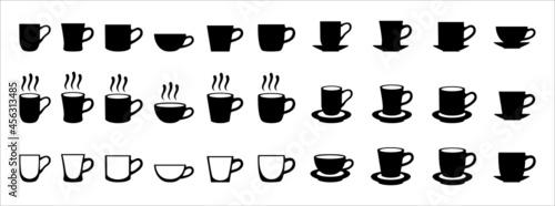 Fotografia Coffee cup icon set