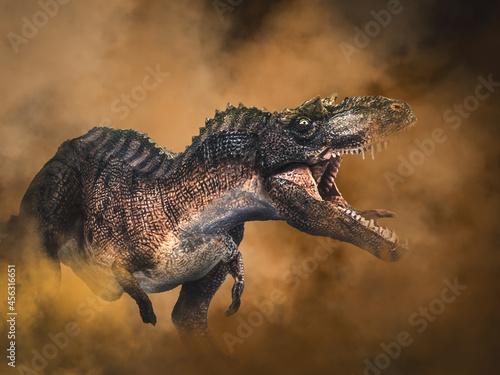 Gorgosaurus Dinosaur on smoke background фототапет