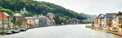 Foto Panoramic view from the embankment of Dinant, Belgium