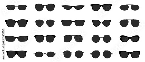 Fotografie, Tablou Sunglasses icon set