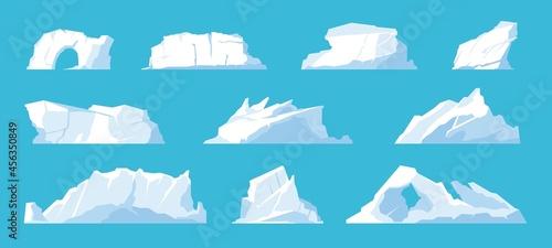 Billede på lærred Icebergs