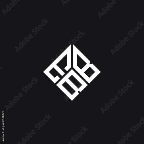 Obraz na plátně EBB letter logo design on black background