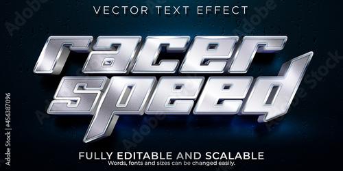 Obraz na plátně Racer speed text effect, editable sport and champion text style