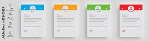 Fotografía letterhead flyer corporate creative official modern simple abstract latest minim
