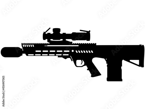 Fototapeta New Generation Squad Weapon Beretta General Dynamics RM277 AR R machine gun assa