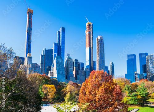 秋のニューヨーク セントラル・パーク Fototapet