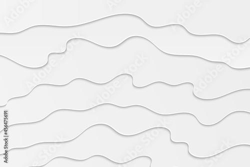 Billede på lærred Wavy white illustration
