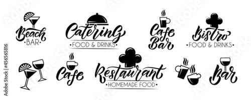 Canvas Vector template of catering, bar, cafe, bistro restaurant logo