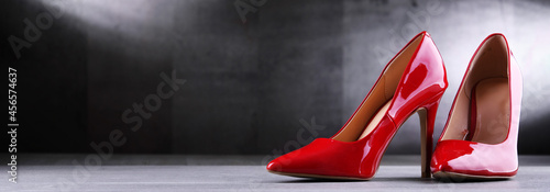 Fotografie, Obraz Composition with a pair of high heel women's shoes