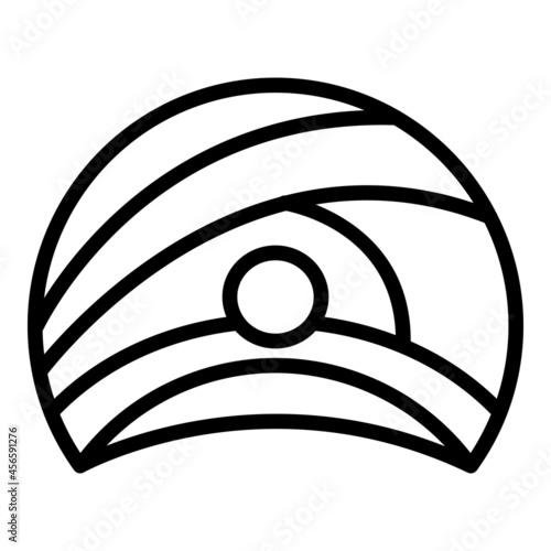 Obraz na plátně Royal turban icon outline vector. Sultan hat. Arabic king