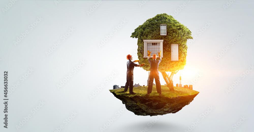 Leinwandbild Motiv - Sergey Nivens : Real estate concept . Mixed media