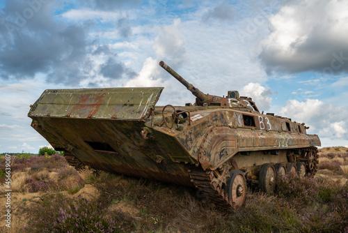 Obraz na plátne Destroyed combat infantry car BWP-1