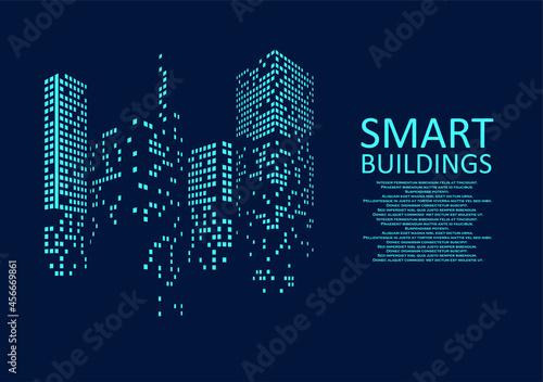 Fotografia Smart building concept design