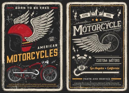 Fotografie, Obraz Bike and motorcycle vintage posters