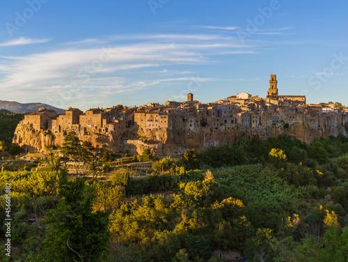 Fototapeta Pitigliano medieval town in Tuscany Italy