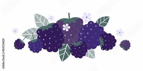 Canvas Print Dewberry fruits