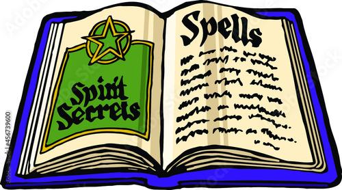 Fotografie, Obraz Halloween witches spell book