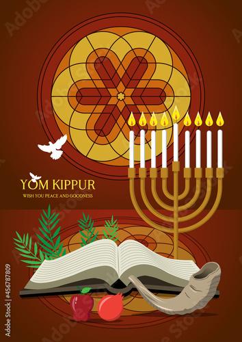 Wallpaper Mural Happy Yom Kippur Celebration