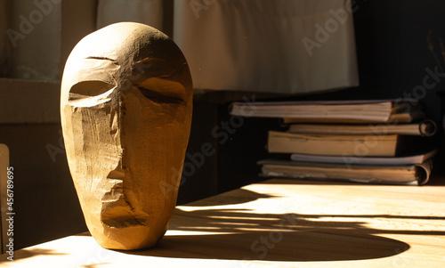 Fotografiet Clay handmade figurehead