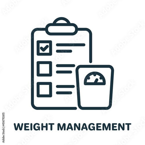 Obraz na plátně Weight Management Line Icon