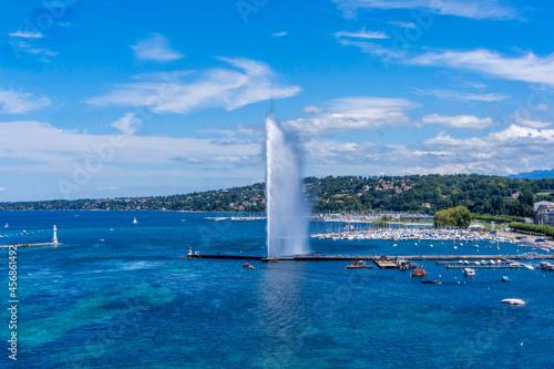 Fotografie, Obraz la rade, le jet d'eau de Genève