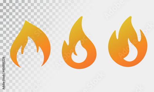 Fotografie, Obraz Fire flame logo vector illustration design template