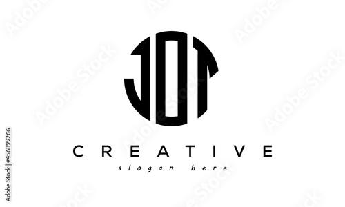 Fotografiet Letter JOT creative circle logo design vector