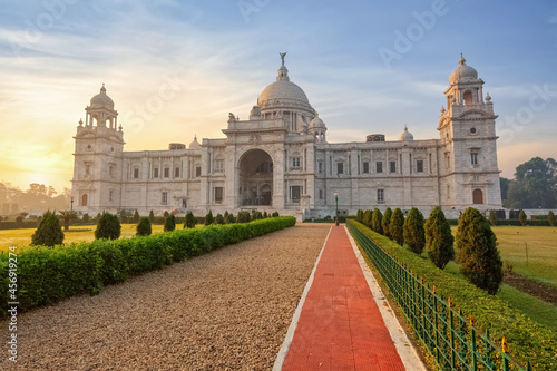 Fotografie, Obraz Victoria Memorial ancient monument and museum built in colonial architecture style built in the year 1921 at Kolkata