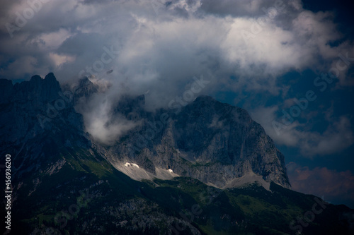 Dramatic light situation in the moutains.