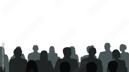 Billede på lærred People heads silhouette