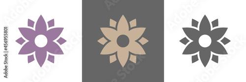 Tela Blumen Blüte Vektor Logos naturfarben