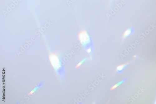 Obraz na plátne Blurred rainbow light refraction texture overlay effect for photo and mockups