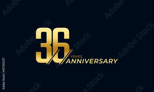 Fotografering 36 Year Anniversary Celebration Vector
