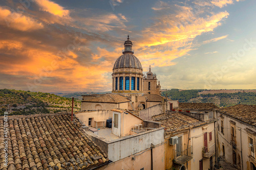 Cathedral of San Giorgio in Ragusa Fotobehang