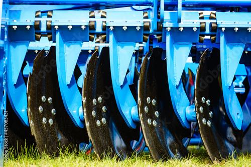 Obraz na plátně Disc harrow, agricultural machinery.