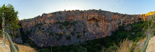 Obraz na plátně Panoramic view of Heaven Sinkhole in Mersin Turkey