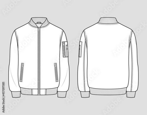 Fotografie, Obraz Classic bomber jacket