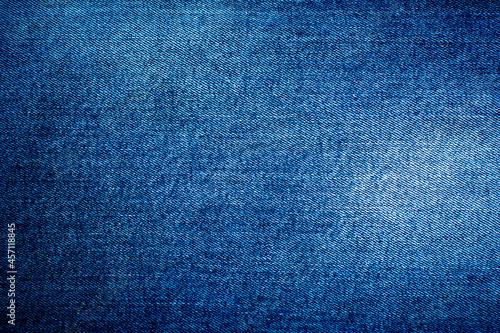 Canvas Print Jeans background denim pattern. Blue denim texture.