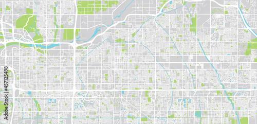 Obraz na plátně Urban vector city map of Mesa, Arizona , United States of America