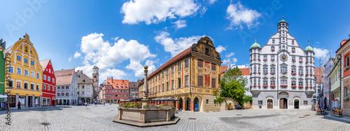 Fotografiet Panorama, Marktplatz, Memmingen, Bayern, Deutschland