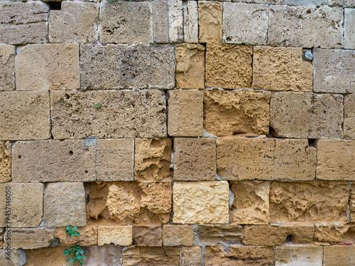 Wallpaper Mural Texture of a tuff brick wall