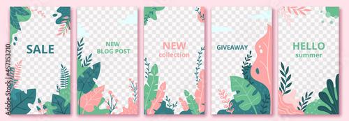 Fotografiet Floral stories template