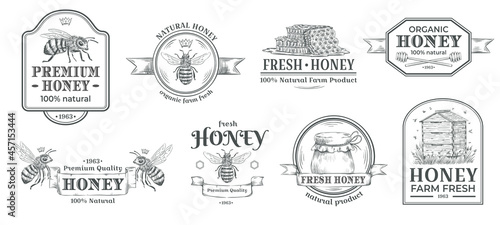 Obraz na płótnie Honey farm badge