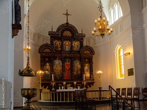 Fotografie, Obraz The Abbey of Our Lady, Aalborg  was an early Benedictine monastery in Aalborg, Denmark