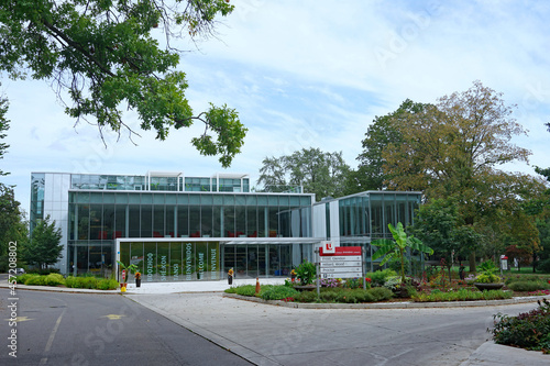 Fototapeta premium Modern building on the midtown Glendon College campus of York University.