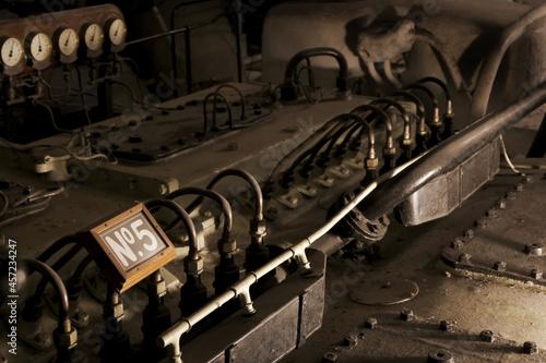 Obraz na plátně Vintage Steam Engine