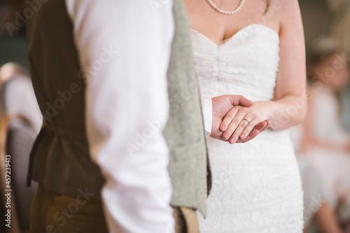 Canvas bride and groom