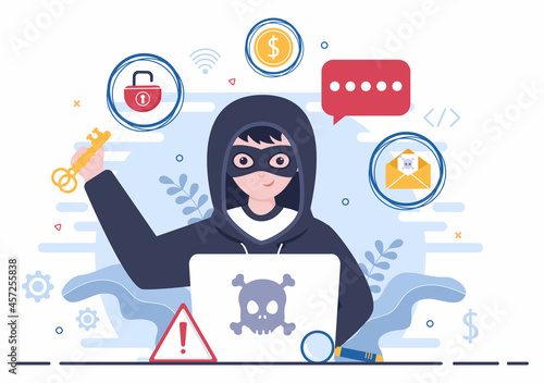 Tela Hacker Using Computer Server to Activity Hacked Database, Network Storage, Social Account, Credit Card or Security